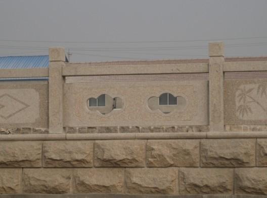 石雕拱形石桥栏板