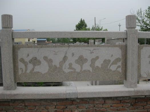 石雕五莲灰桥栏杆