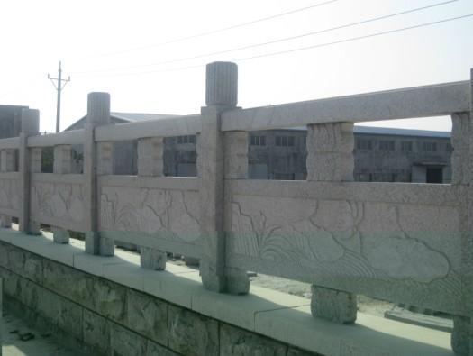 五莲灰镂空桥栏板